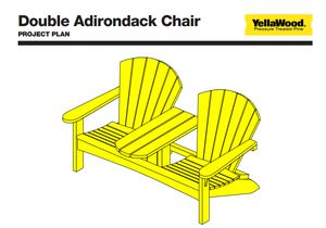double adirondack chair plans. Double Adirondack Chair Plan From YellaWood Plans E