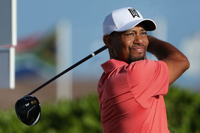 Tiger Woods during the 2016 Hero World Challenge pro-am