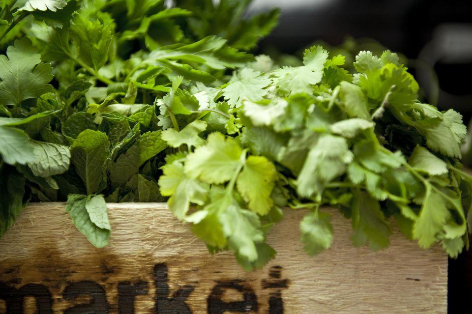 Box of mixed herbs