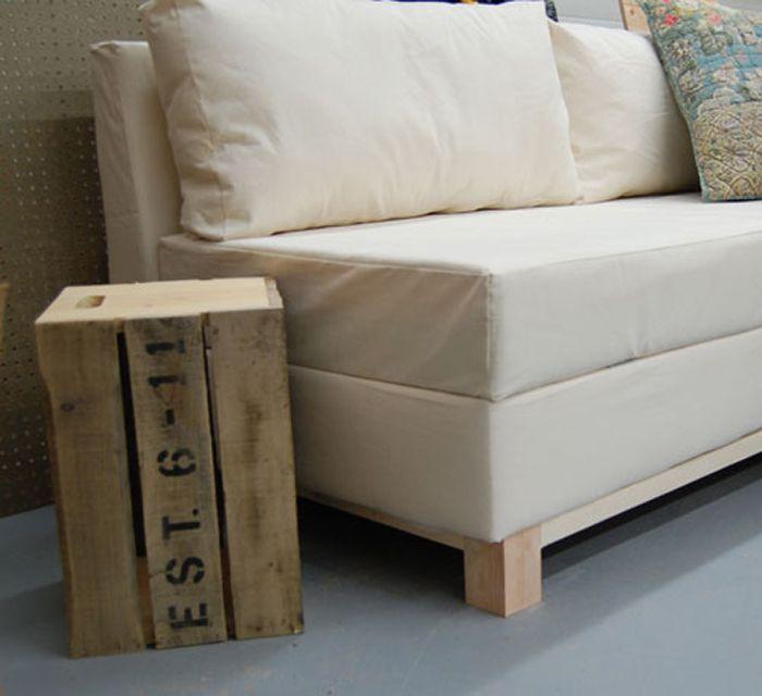 Diy Living Room. DIY Storage Sofa 50 DIYs for the Living Room