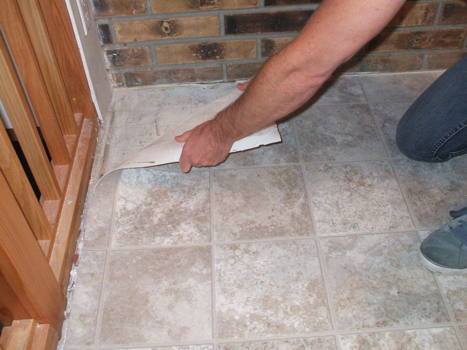 tile interior how vinyl flooring excellent style design concrete to adhesive floors home remove from removing designs