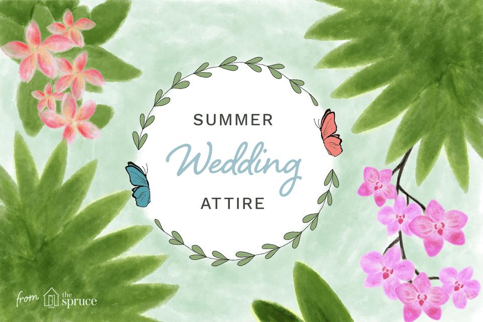 Summer wedding attire
