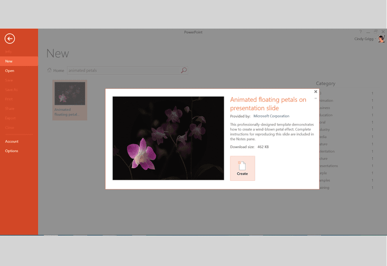 Microsofts best presentation templates for powerpoint animated floating flower petals presentation template for microsoft powerpoint toneelgroepblik Gallery