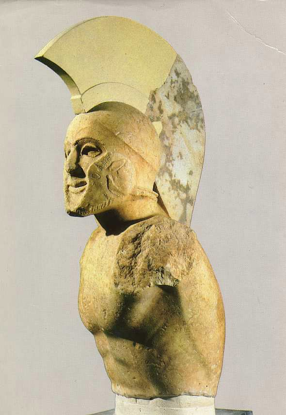 A Sculputre of a Spartan Hoplite from the 5th Century BCE