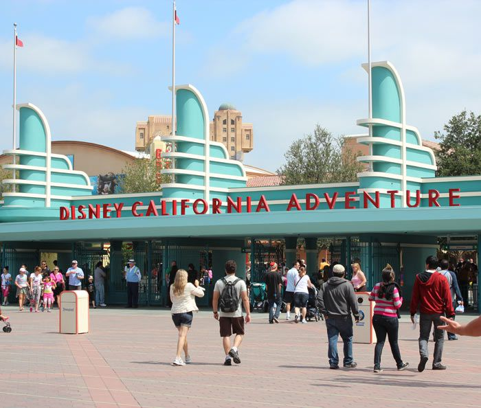 The main entrance to Disney California Adventure.