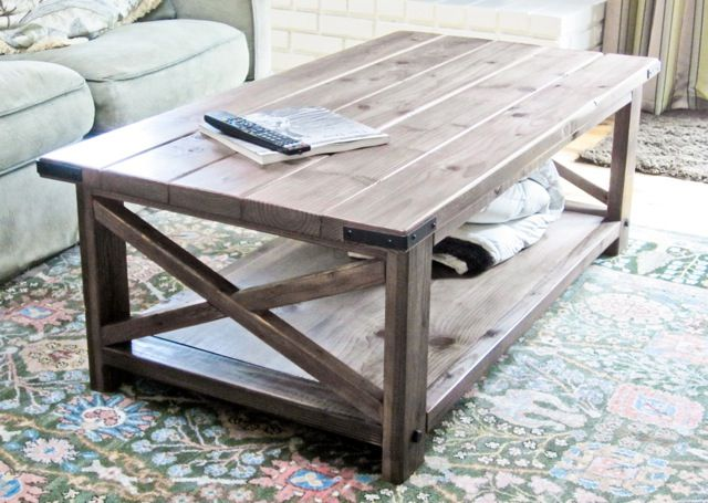 Rustic X Coffee Table from Ana White