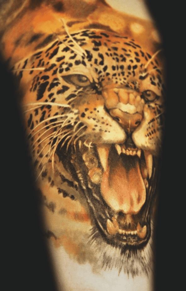 Tatuajes de panteras, pumas y leopardos