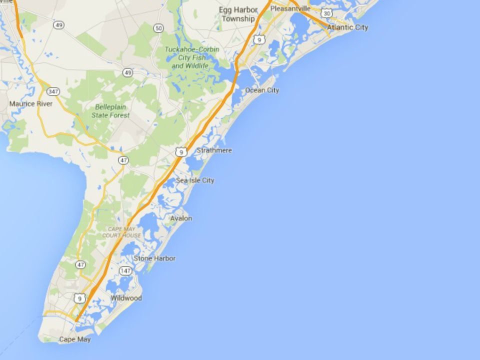 Maps Of The New Jersey Shore - South jersey map