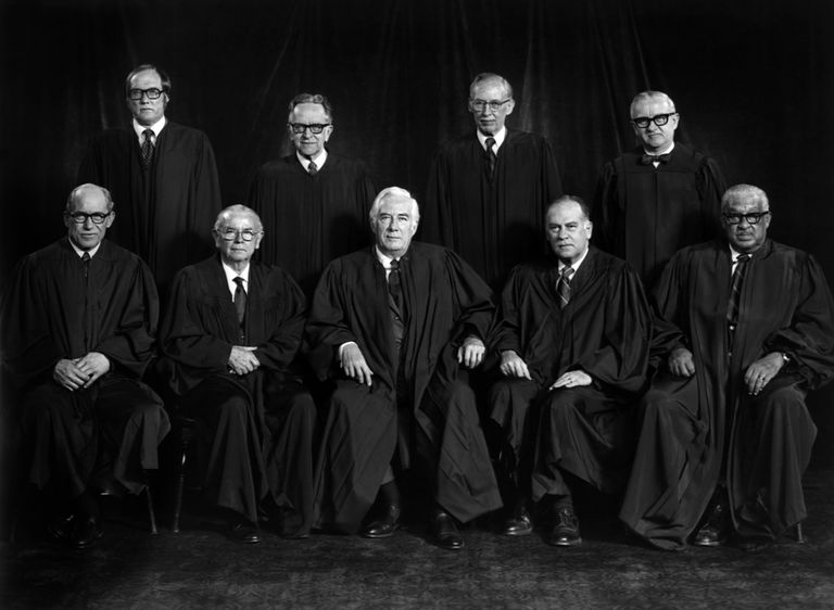 Justices of the Burger Court, 1976
