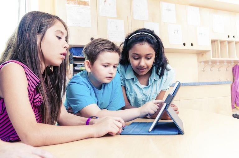 School Children using Tablet PC