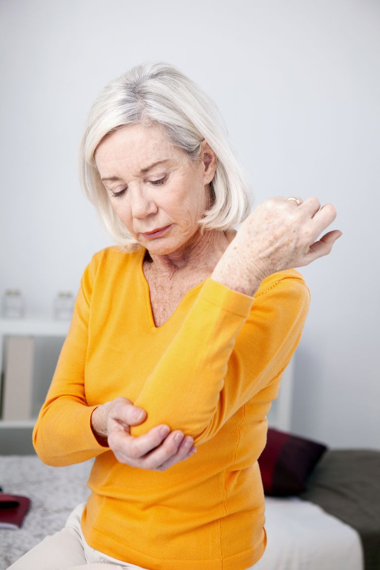 ELBOW PAIN IN A SENIOR WOMAN