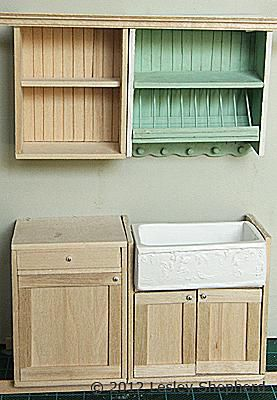 Add Opening Glass Front Cabinets to a Dollhouse Miniature ...