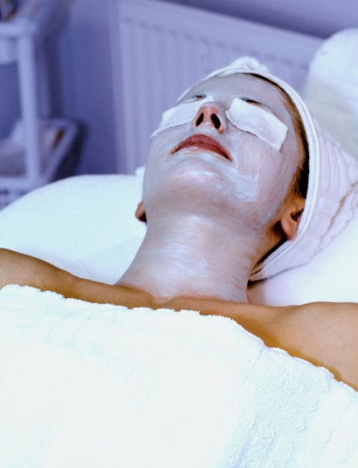 A woman getting a treatment at a medical spa