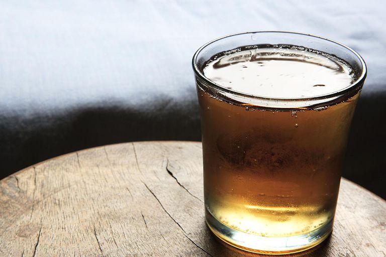 Glass of Guarana Energy Drink