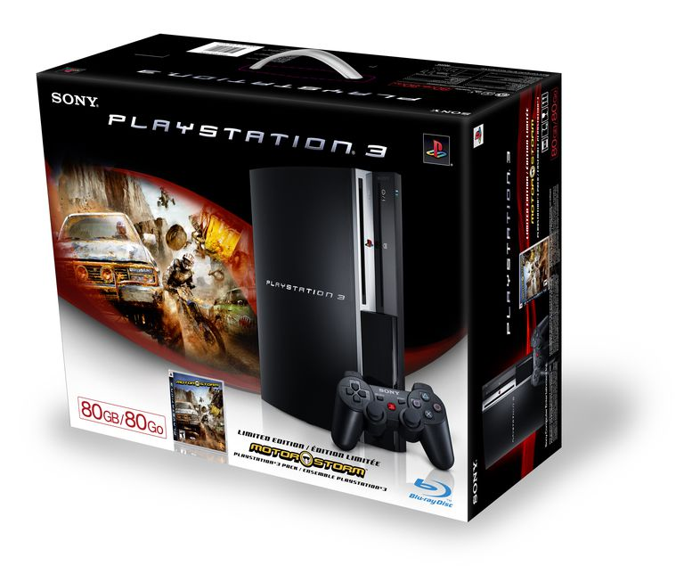 80GB PlayStation 3 and MotorStorm Bundle