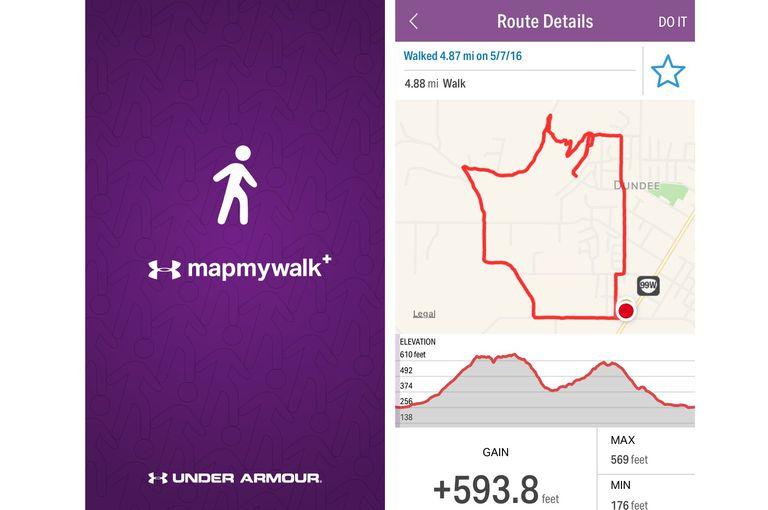MapMyWalk app