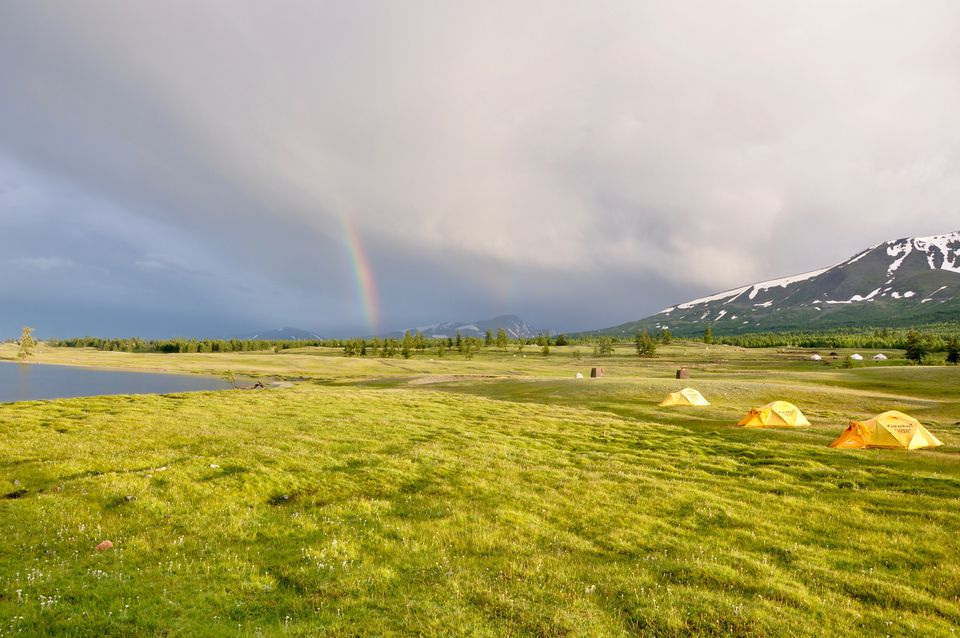 Rainbows over Mongolia