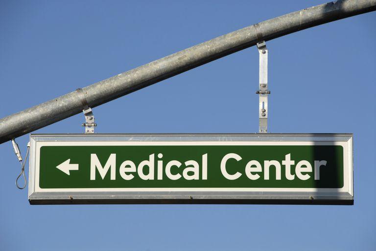 medical center sign illustrating importance of finding a good cancer center