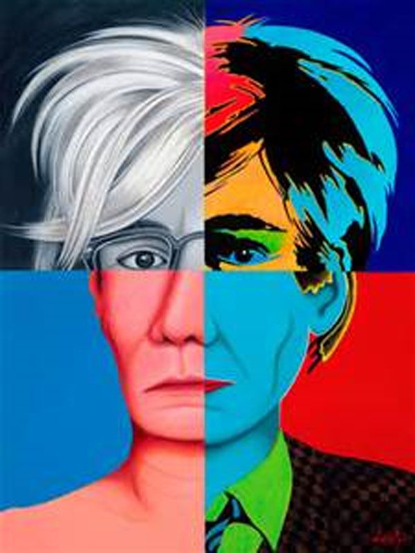Funky Art of Warhol Portrait