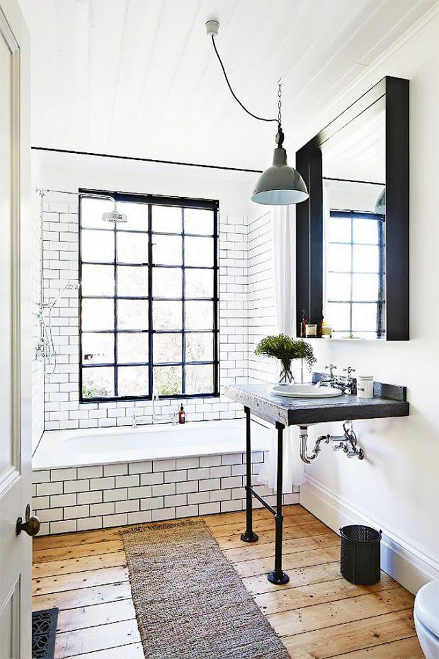bathroom inspiration classic black and white