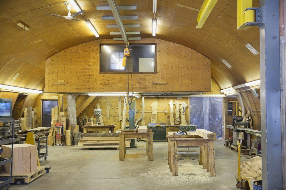 Interior of a Carpentry woodshop