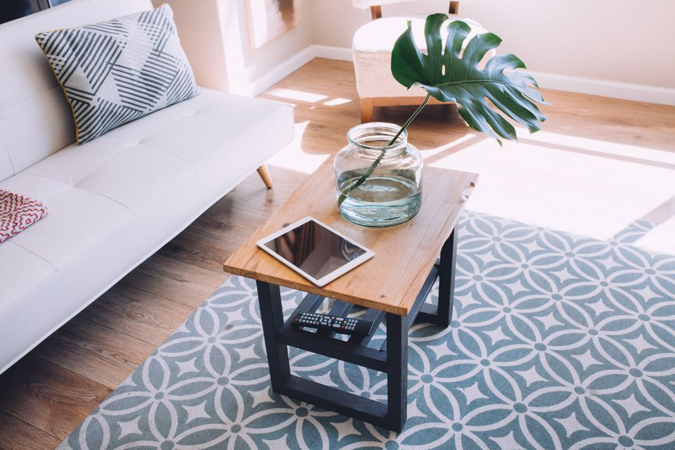 coffee table living room declutter home