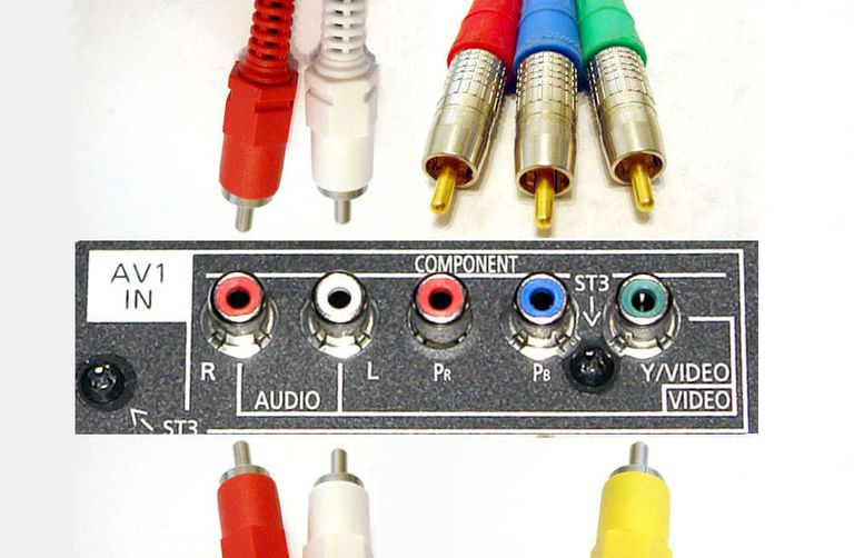 Shared Composite/Component Video Connections on a TV