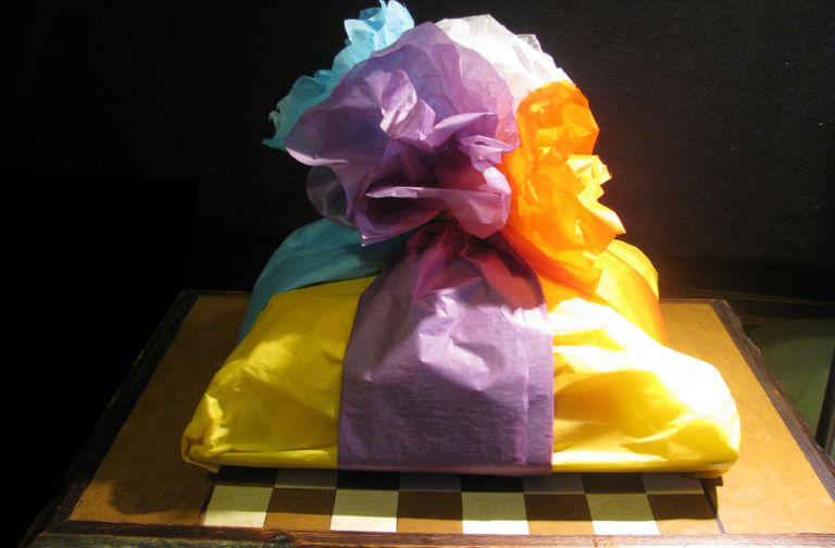 A gift wrapped in paper