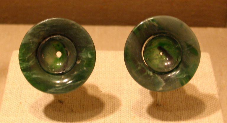 Olmec jade ear flares