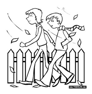 thecolorcom fall coloring pages - Fall Color Pages