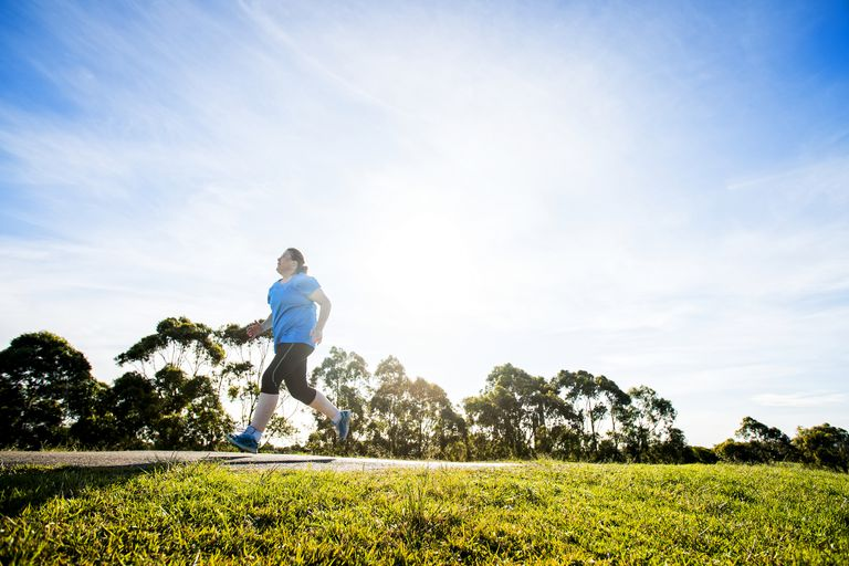 Overweight Woman Jogging