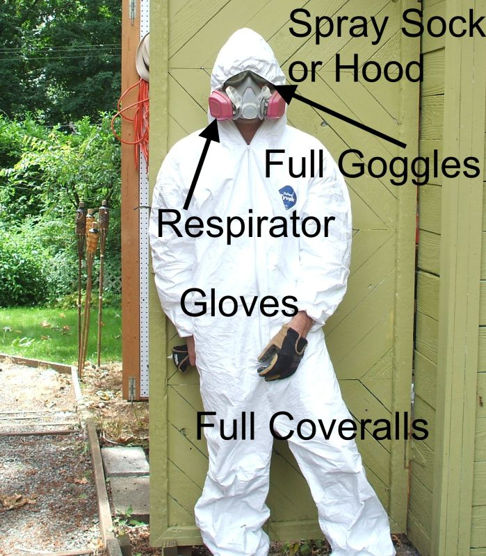 How to Use a Paint Sprayer - Protection Needed for Spraying