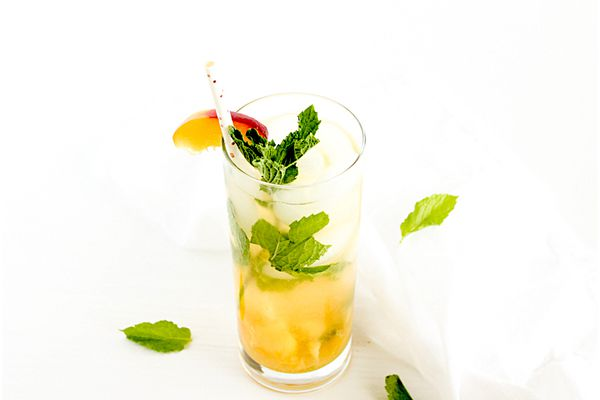 peach mint green tea