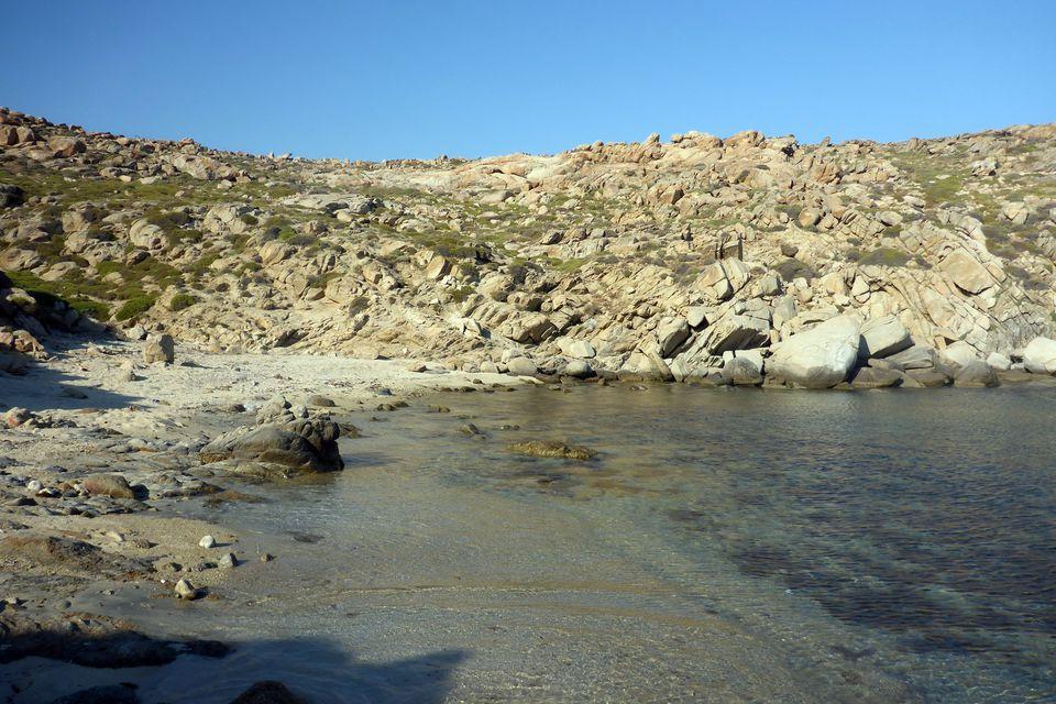 Beach on Rinia Island, Greece