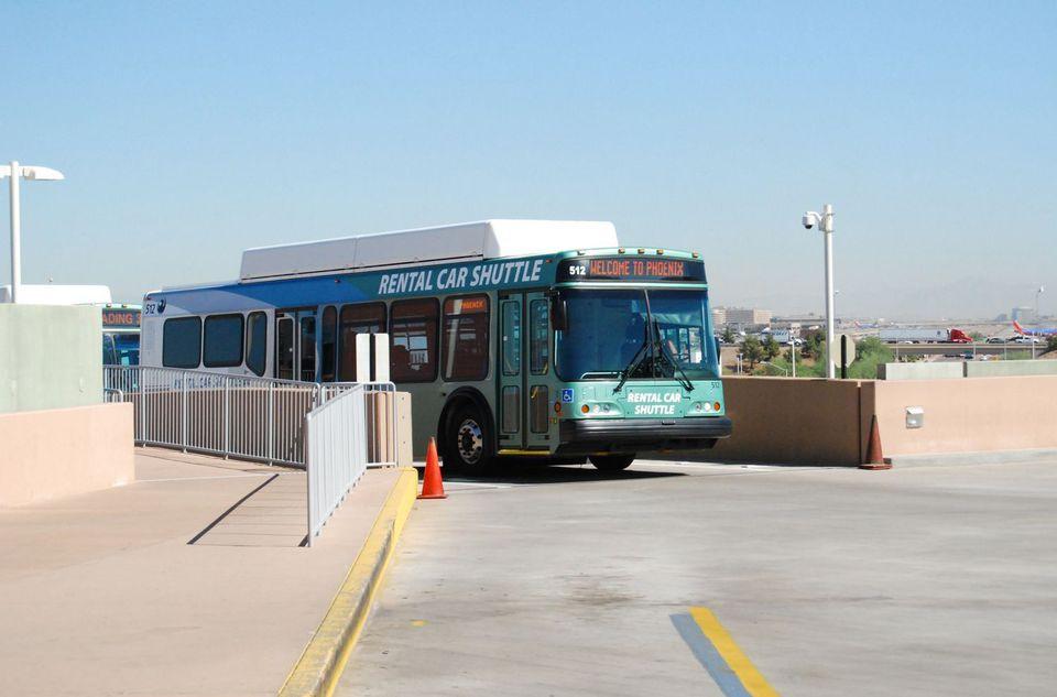 Sky Harbor shuttle bus