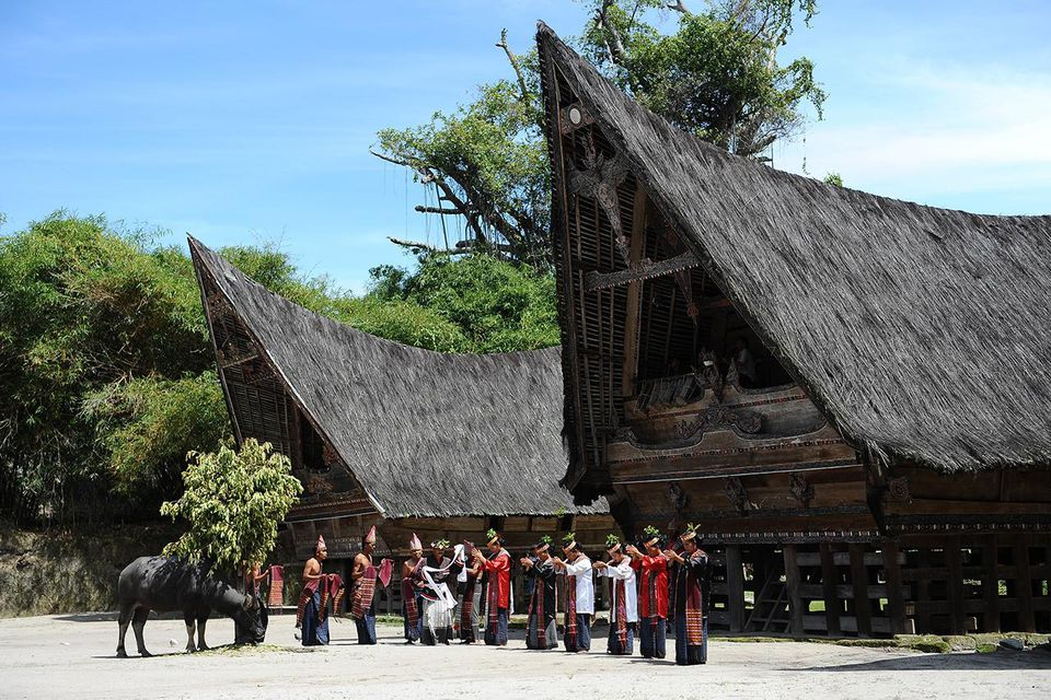 Indonesia's Oldest Traditional Batak Dance Group Perform On Samosir Island
