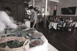 Indigo's luncheon salad buffet Eurasian style in the heart of Chinatown.