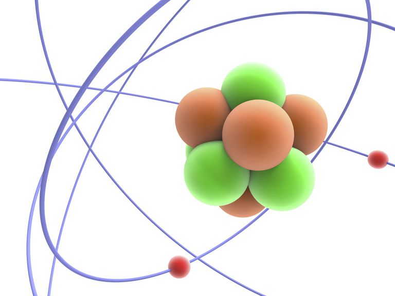 The atomic number identifies the number of protons in an atom.