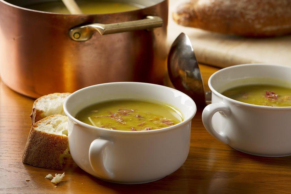 Home made split pea soup