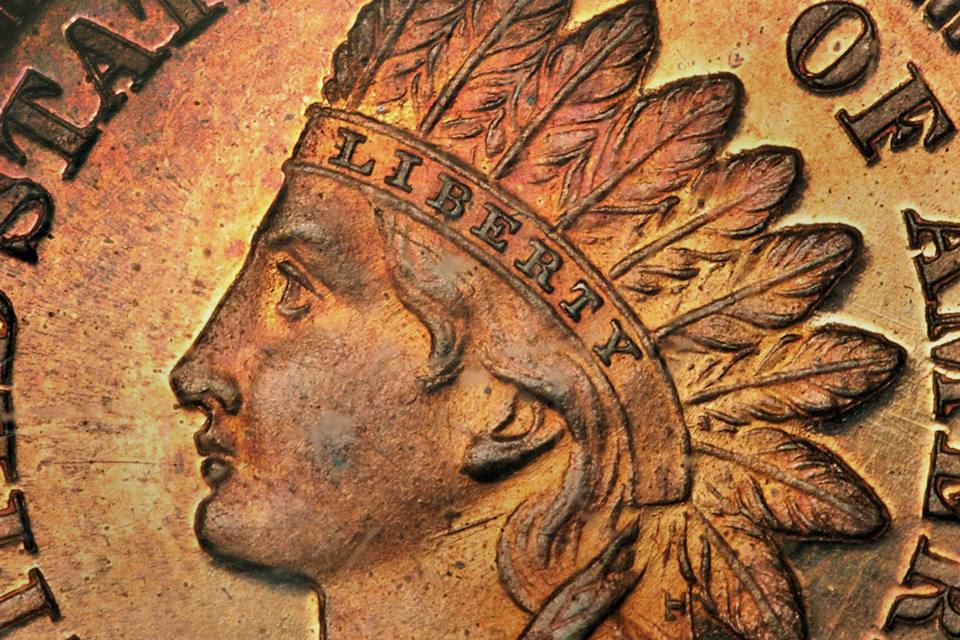 Close Up of an Indian Head Penny
