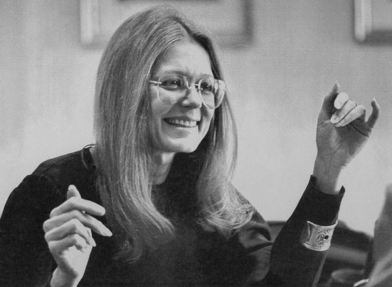 Feminine Activist Gloria Steinem at Book Promotional Event