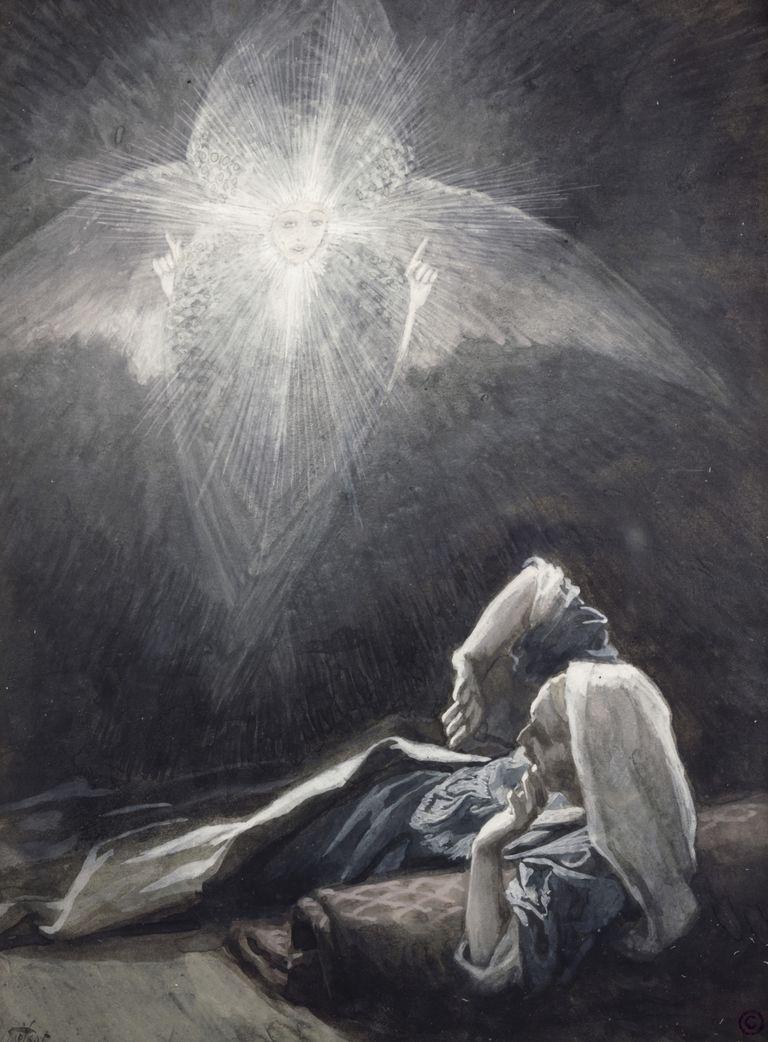 Saint Joseph Christmas angel dream