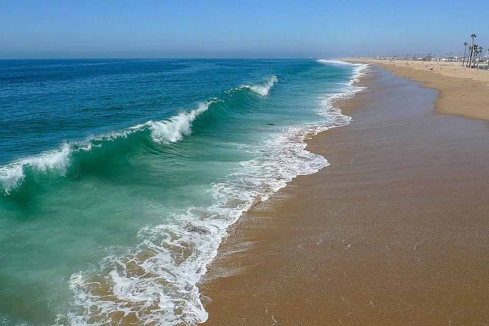 Waves at Newport Beach