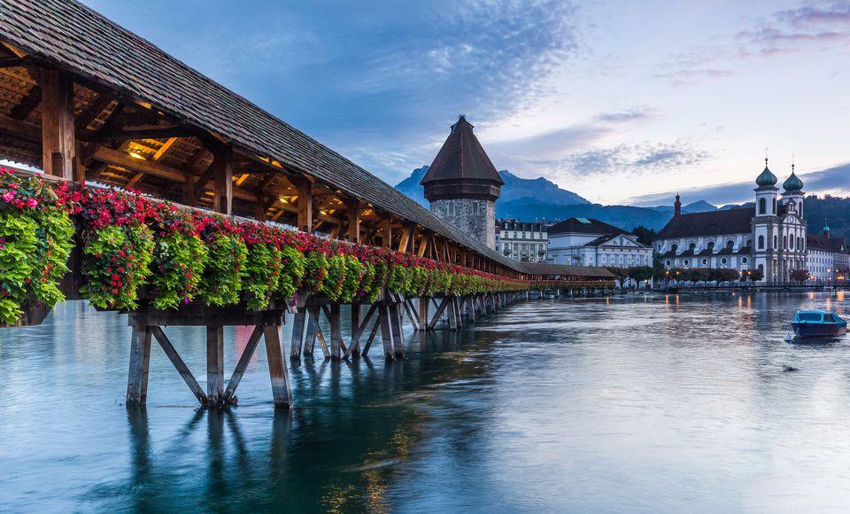 Lake Lucerne in Switzerland.