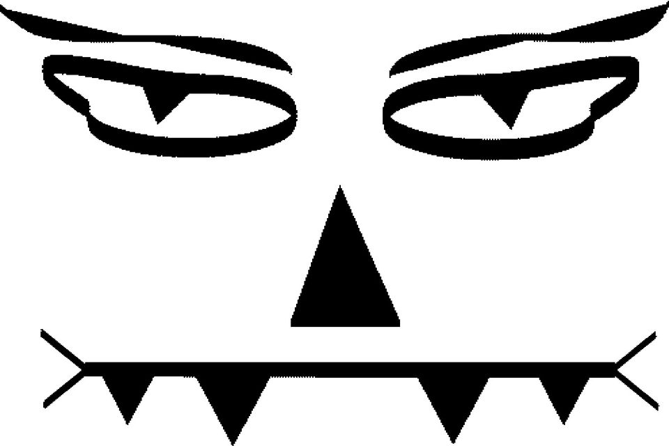 template to use to carve a werewolf jack o lantern