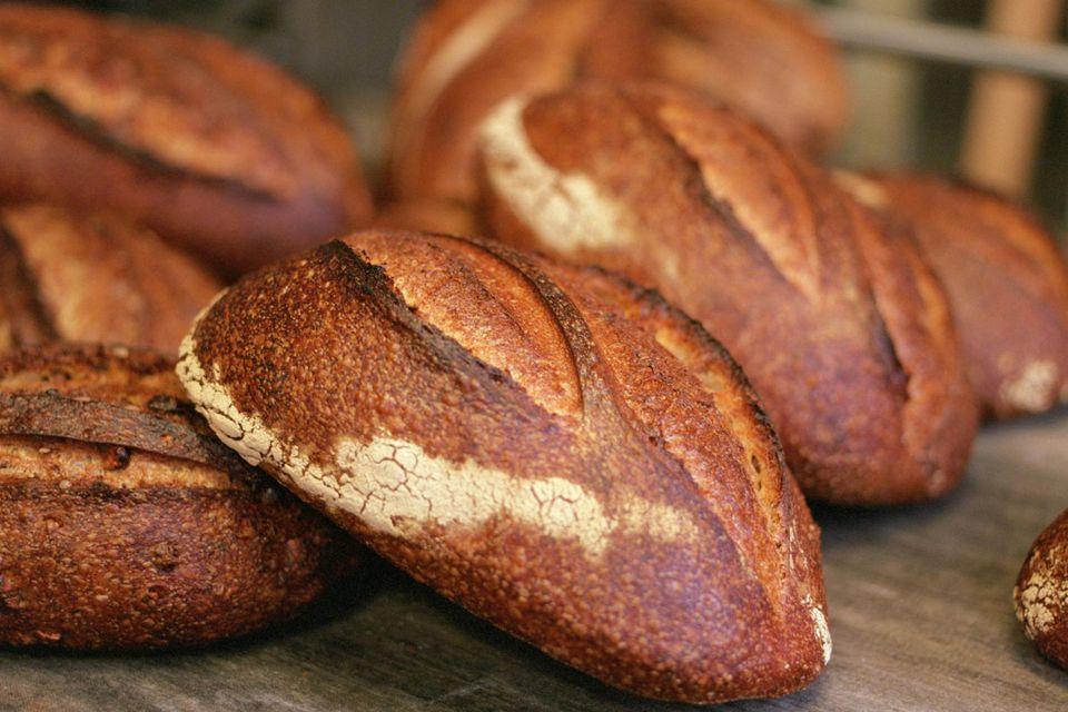 Artisanal bread loaves