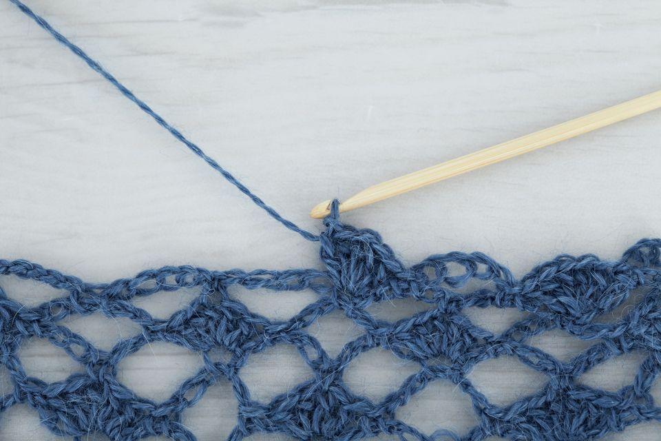 Crocheting wool