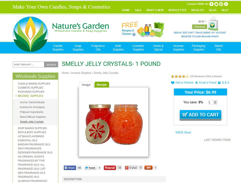 Smelly Jelly Index Of Recipes Using Water Crystals Or Gelatin