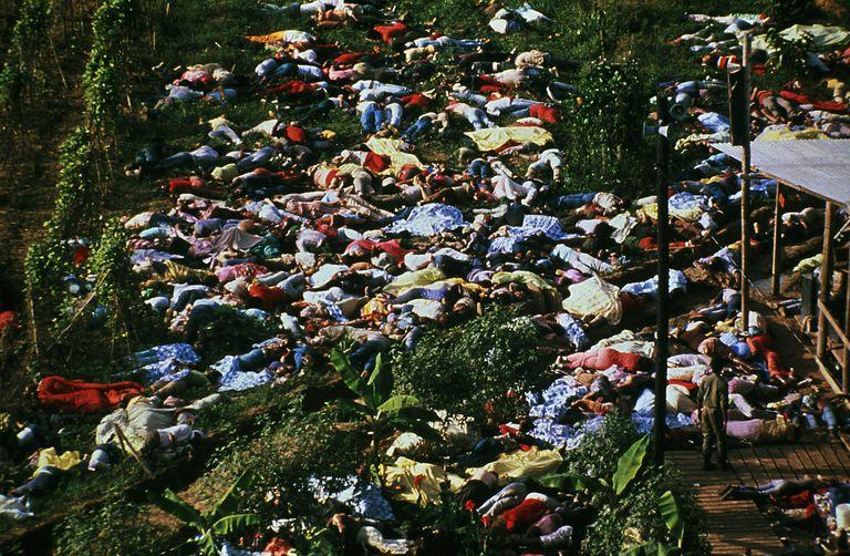 Corpses from the Jonestown Massacre of 1978