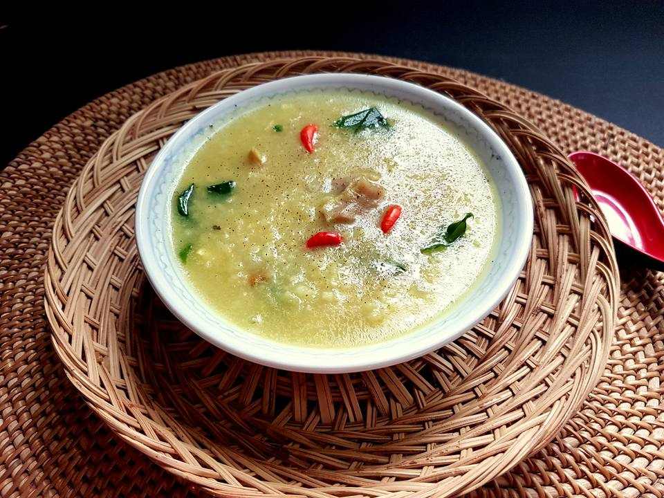 Bubur lambuk, traditional Malay porridge with herbs and spices